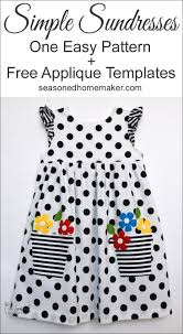 u0027s easy to sew sundress with appliqué free sewing projects