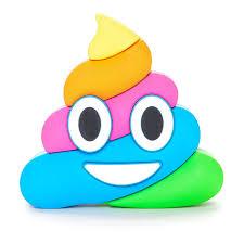 fridge emoji magnet 2 x 3 inch rainbow poo magnet