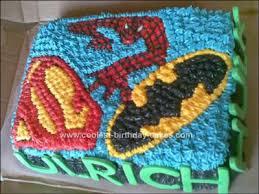 cool homemade superheroes birthday cake
