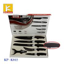 swiss kitchen knives stock tray color box black non stick coating swiss line knife