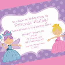 Invite Birthday Card Birthday Invites Give A Special Princess Birthday Invitations