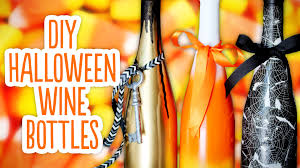 dollar tree halloween background diy halloween wine bottles u0026 spooky background youtube