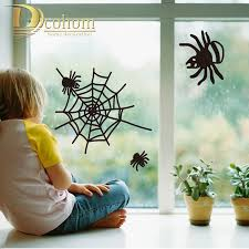 lively spiders for kids room window glass decoration diy wall