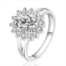 wedding ring black friday large cubic zirconia party trendy geometric cocktail ring black