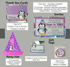 Penguin Baby Shower Decorations Penguin Birthday Party Supplies Or Penguin Baby Shower