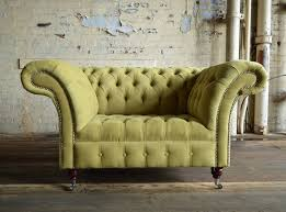 Chesterfield Sofas Manchester Naples Lime Green Velvet Chesterfield Snuggle Chair Abode Sofas