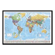 Uk World Map by World Map U0026 Flags Pinboard Cork Board With Pins Iposters