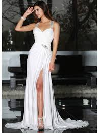 grecian wedding dresses grecian wedding dress with straps and skirt split being