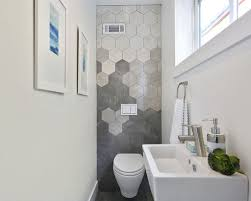 Gray Tile Bathroom - our 50 best modern powder room ideas u0026 decoration pictures houzz