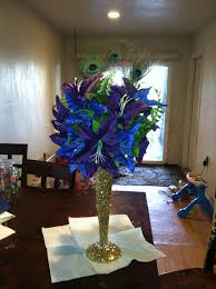 peacock wedding theme peacock wedding centerpieces