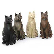 cat urn four colors of sitting cat urn