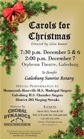 tickets for choral dynamics carols for christmas in galesburg