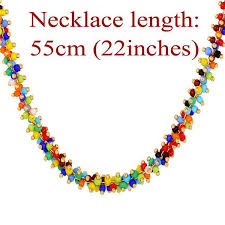 beading necklace lengths images J0021 coral bead necklace hydara fabrics african fashion jpg