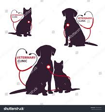 veterinary clinic logo template cat dog stock vector 730264108