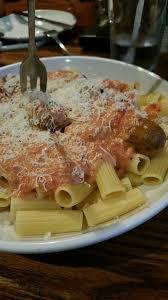 Five Cheese Marinara Sauce On Cavatappi Pasta With Chicken Meatballs - rigatoni five cheese marinara italian sausage awesome yelp