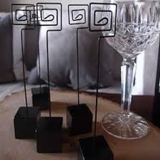 table number weighted stands place holder card