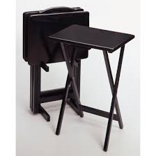 Tv Table Ideas Fold Up Child Diy Tv Tray Table Painted With Black Color Ideas