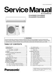 manual for air conditioner air conditioner database