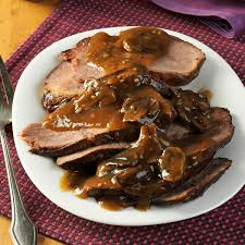 thanksgiving roast beef recipe slow cooked coffee beef roast recipe taste of home
