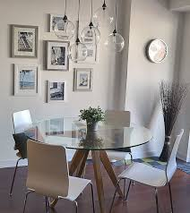 Round Glass Kitchen Table Best 25 Round Glass Table Top Ideas On Pinterest Custom Glass