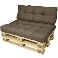 canapé en palette avec dossier coussin dossier beautissu eco pour canape palette type