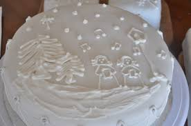 sew lah tea dough winter scene christmas cakes