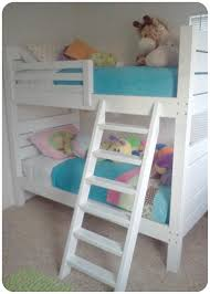 white girls bunk beds ana white side street bunk beds modified ladder diy projects