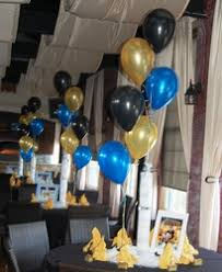 balloon arrangements nj black blue and gold is an color theme for balloon