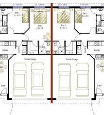 Duplex With Garage Plans 3 Bedroom Duplex Floor Plan U2013 Home Plans Ideas