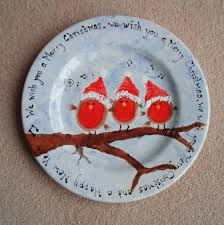 christmas plates robin christmas plate search tole painting and ideas