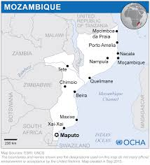 Mozambique Map Mozambique Map Blank Political Mozambique Map With Cities