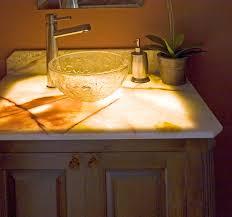 Glass Bathroom Vanity Tops by Bahtroom Small Plant Decor Near Glass Bowl Sink On Onyx Bathroom