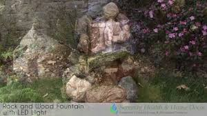Fountains For Home Decor Sunnydaze Rock And Wood Fountain With Led Light 132515001 Youtube