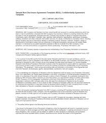 reseller contract template 41 free non disclosure agreement templates sles forms free