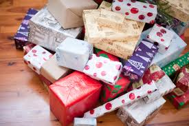 photo of pile of gift wrapped christmas presents free christmas