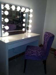 Table Vanity Mirror With Lights Storjorm Mirror With Built In Light White Applying Makeup