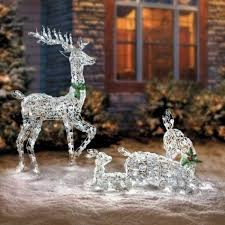 outdoor reindeer decorations lighted decorations
