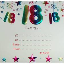 18th birthday invitations free templates and wishes