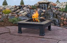Slate Top Patio Table by Real Flame Gel Fireplaces Ventless Fireplaces Portable