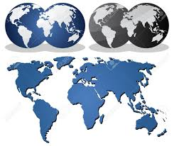 World Globe Map Continent Clipart Earth Map Pencil And In Color Continent