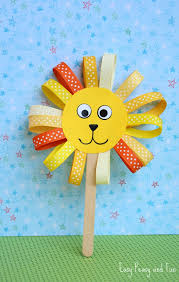 lion puppet ribbon lion puppet craft lion crafts for kids easy peasy and