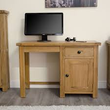 Small Computer Desk With Drawers Tilson Solid Rustic Oak Furniture Small Computer Desk
