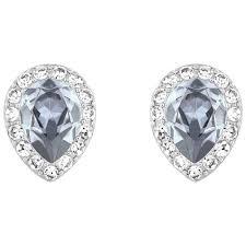 pierced earrings swarovski christie pear pierced earrings paradiso gioielli