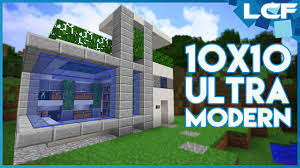 Ultra Modern House Minecraft Tutorial Ultra Modern House 10x10 Youtube