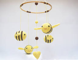 Bumble Bee Nursery Decor Baby Mobile Bumble Bee Nursery Mobile Nursery Baby Shower Gift