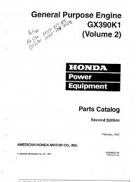 Hon Tsb 001 Honda Gx390 Parts List