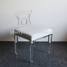 2017 sale high polished clear morden acrylic furniture bench