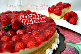 cara membuat cheese cake ulang tahun strawberry cheese cake for bunda kokieka