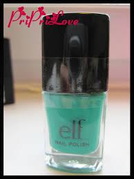 priprilove review u0026 swatch e l f nail polish in teal blue