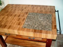 custom wood countertop options marble granite and wood inserts